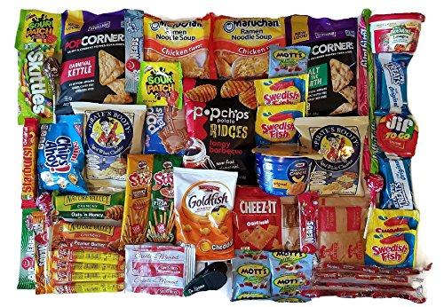 Ultimate Snack Care Package (50 Count) - Chips, Candy Assortment, Cookies, Bundle Gift Pack
