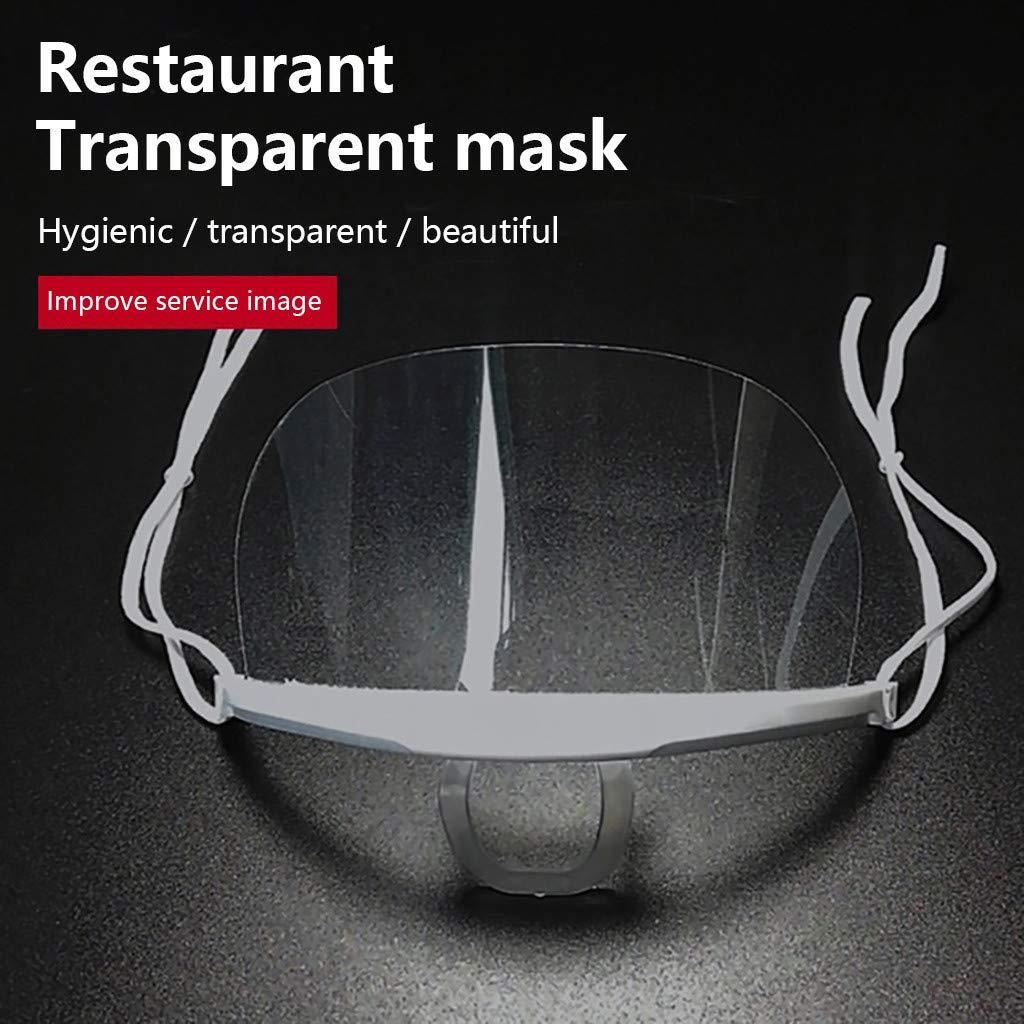 1 Visera Protectora Protector Facial Seguridad Impermeable y a prueba de polvo LDSLQ escudo para la cara visera de pl/ástico para cara