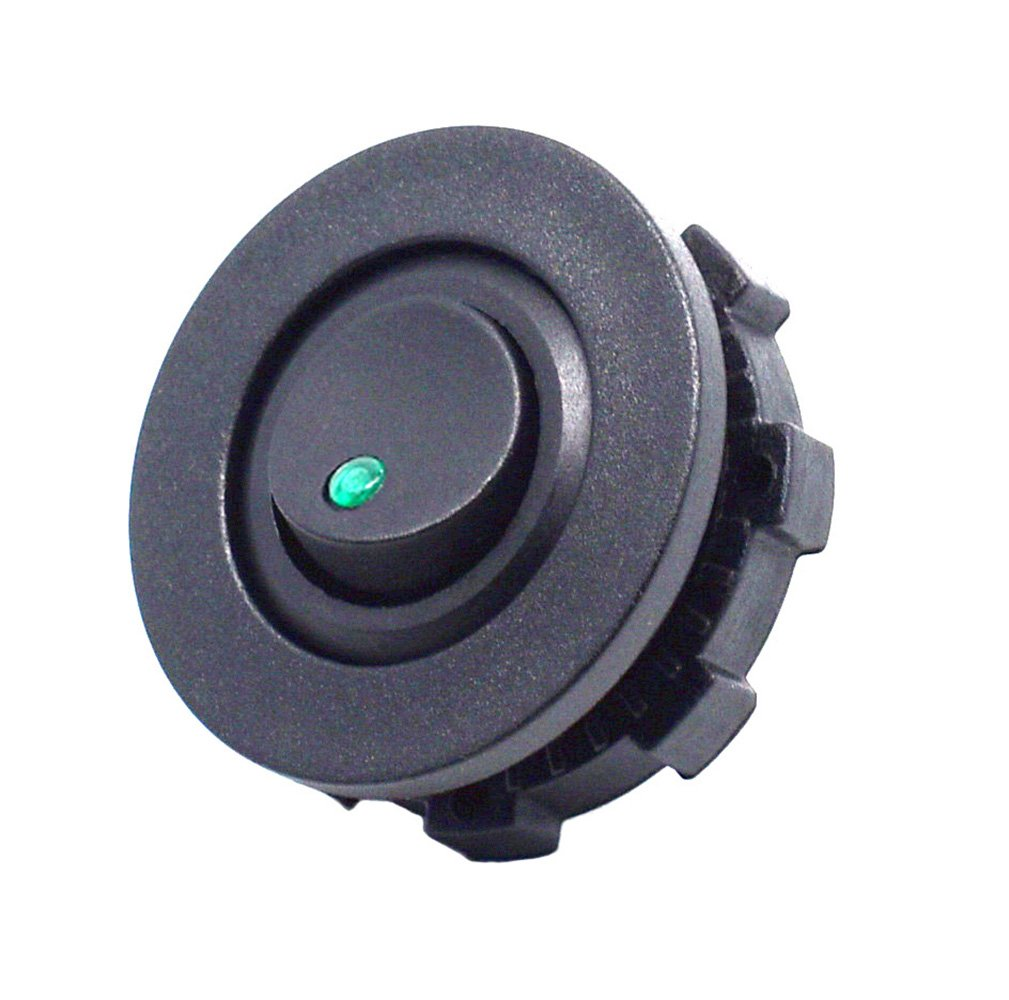 Cllena Car Truck Round Rocker Toggle Switch Spst On Off All Electronics Corp Control With Housing Green Led Light Cell Phones Accessories