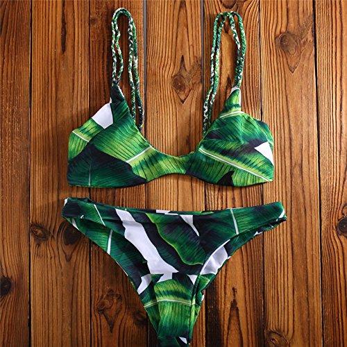 Lovekobe Damen Bikini-Set grün grün