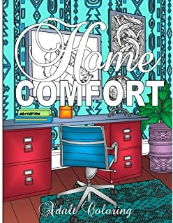 Home Comfort Adult Coloring Decorating Books
