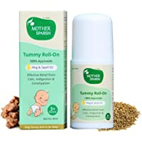 Mother Sparsh Tummy Roll On for Baby, Colic Relief and Digestion, 100% Ayurvedic, Hing & Saunf, 40ml
