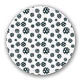Soccer Lazy Susan: Large, Black Melamine Turntable Kitchen Storage Custom Printed