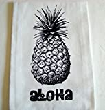 Hawaiian Aloha pineapple printed Kitchen flour sack towel