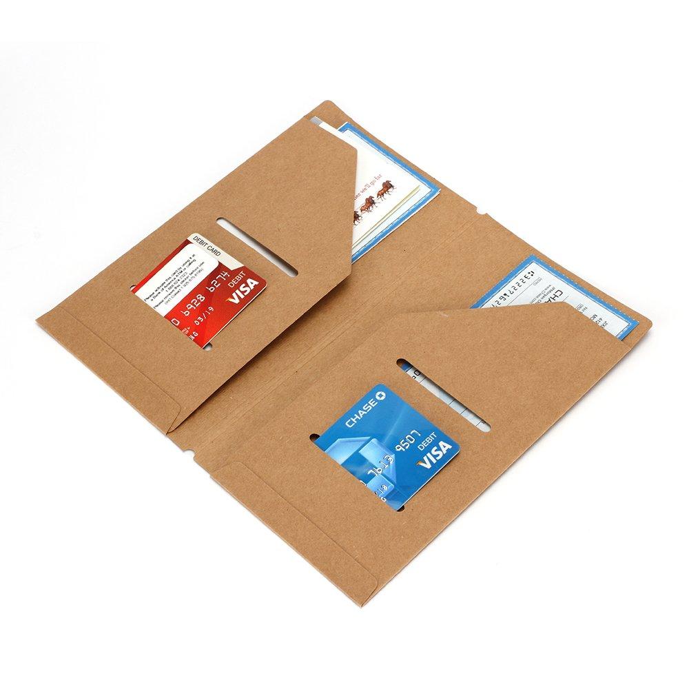 fogli bianchi quaderno di viaggio ricaricabile in vera pelle diario in pelle scomparto per carta di credito stile vintage a righe diario di viaggio con tasca con cerniera
