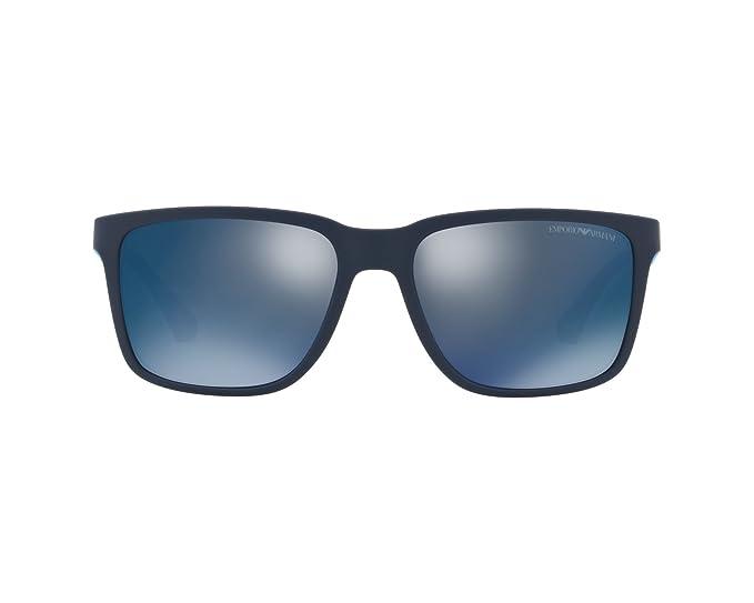 Emporio Armani 0EA4047, Gafas de Sol para Hombre, Blue ...