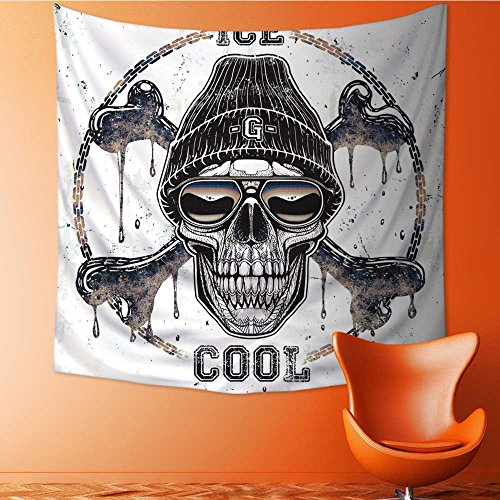 Decor Tapestry Wall Hanging by Ghetto Skull t Shirt Graphic Home Decoration Wall Tapestry Hanging 63W x 63L Inch