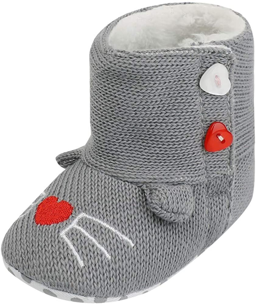 Zapatos Bebe PriBebésos Pasos, SunGren Muchachas Lindas del Bebé Niña Niño Botas Suaves de Nieve de Suela Zapatos Suaves de Cuna Botas Recién Nacidas