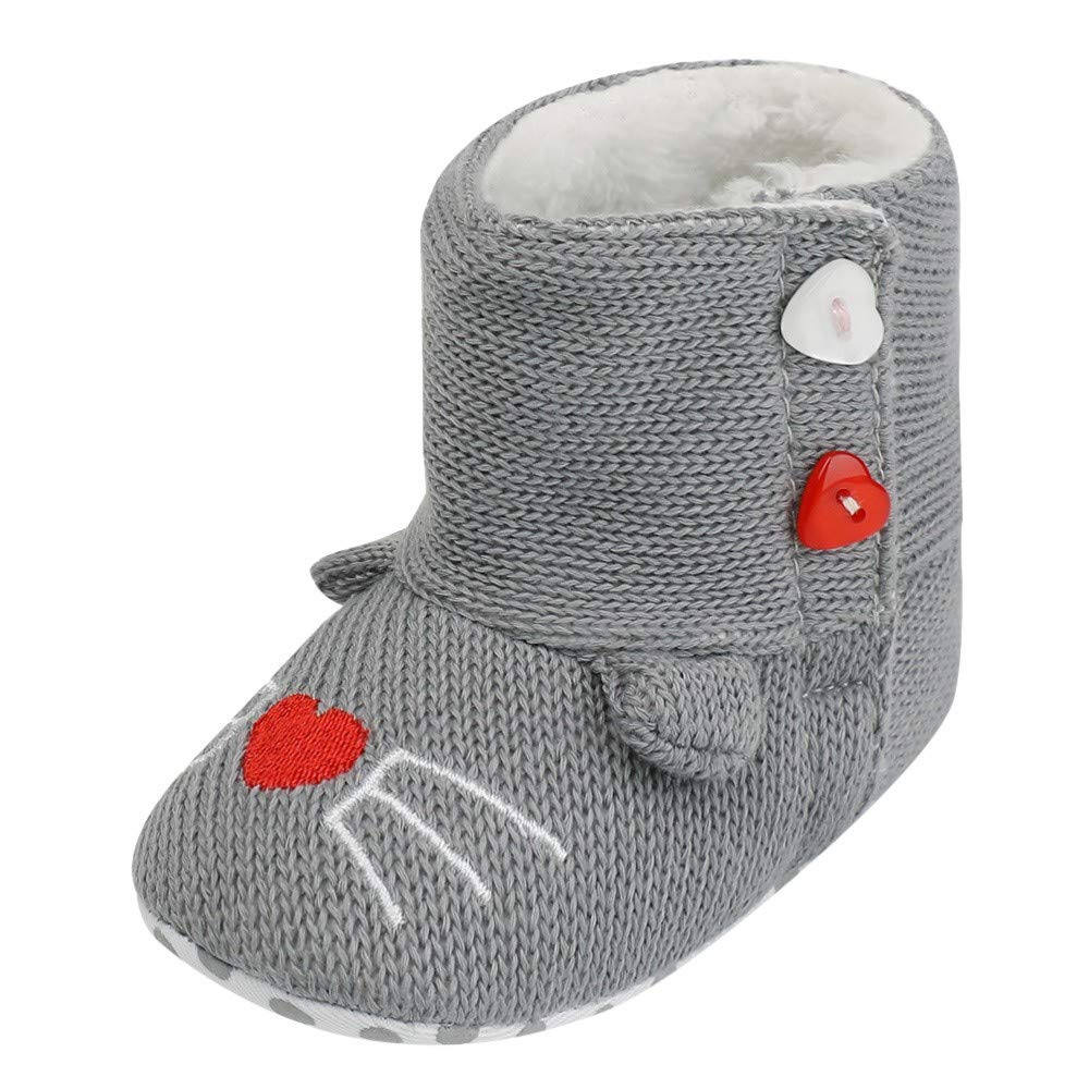Zapatos de Primeros Pasos para Bebe Niñas Niños Moda Otoño Invierno 2018 PAOLIAN Botas Terciopelo Lana Mantener Caliente Calzado Algodón para recién Nacidos Zapatos Vestir Suela Blanda Bautizo