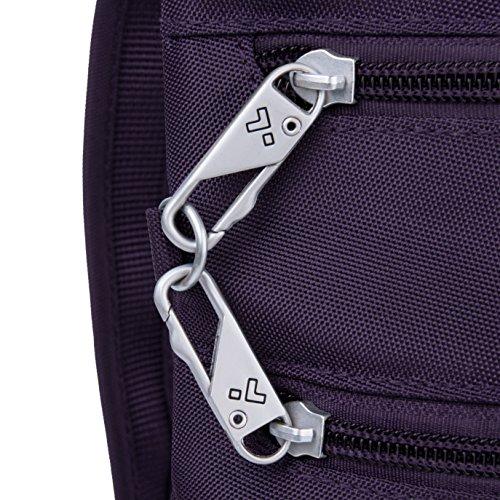 Zip Classic Purple theft Anti Black Crossbody Bag Travelon Dbl Slim zqHawEnx