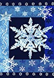 Toland Home Garden Cool Snowflakes 28 x 40 Inch Decorative Blue Winter Snowflake House Flag