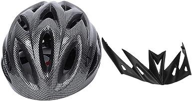 zhuolong Accesorio de Equipo de Ciclismo Casco de Bicicleta Unisex Integrado Accesorio de Equipo de Ciclismo(Fibra de Carbono Negro): Amazon.es: Ropa y accesorios