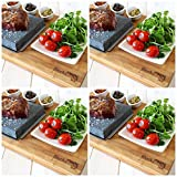 Bamboo Steak On The Stone Premium -Set of 4