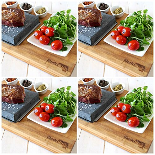 Bamboo Steak On The Stone Premium -Set of 4 by Black Rock Grill