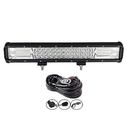 AUXTINGS barra de luz LED de 22 pulgadas 324 W, triple fila, foco ...