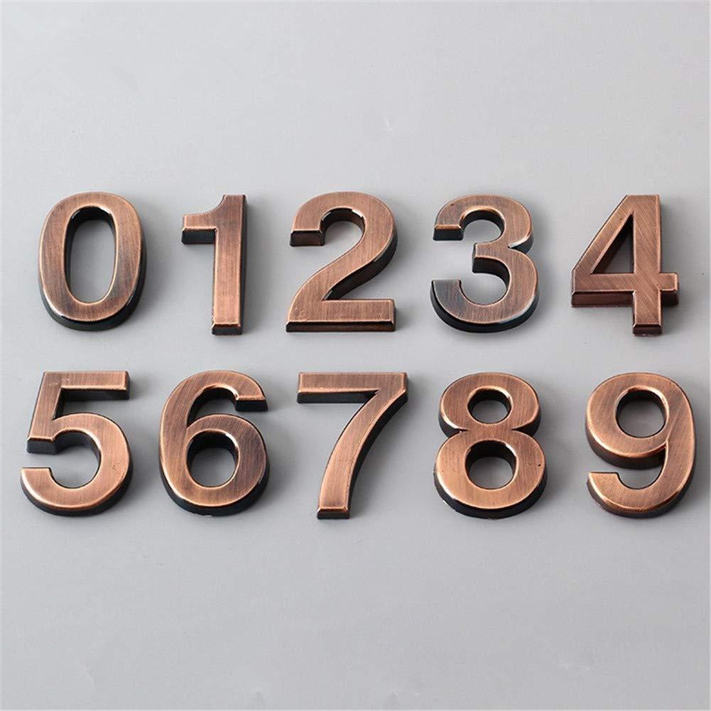 num/éro de porte dh/ôtel 0-9 bronze Harddo Harddo Num/éro de maison moderne en alliage de zinc