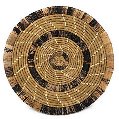 All Across Africa Handwoven 17-inch Banana Fiber Platter