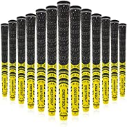 Multi -Compound Golf Grips, Standard/Mid Size All-Weather Control Thread Technology Rubber Combine with Carbon