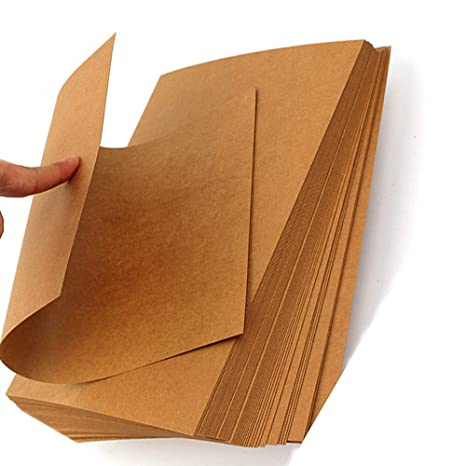 Amazon com : LIWUTE Recycled Natural Dark Brown kraft card A4 300