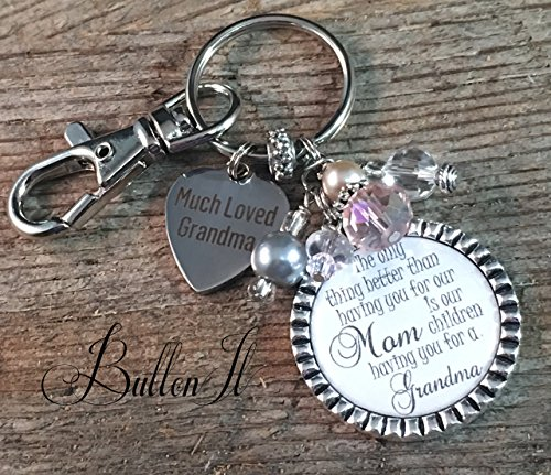 GRANDMA gift, Valentine gift, Gifts for HER, Grandmother, Grandma jewelry, Gifts for Grandma, Mother's Day gift, charm key chain, purse clip, only thing better