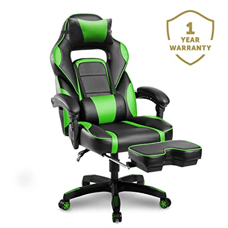 Swell Merax Racing Gaming Chair With Footrest Ergonomic Office Reclining Chair Computer Gamers Pc Racer High Back Large Home Desk Chairs Executive Forskolin Free Trial Chair Design Images Forskolin Free Trialorg