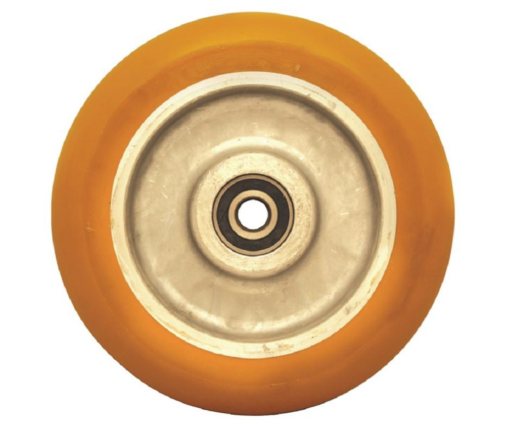 Albion PM082280880A 8'' Polyurethane on Aluminum Caster Wheel, 2'' Tread Width, Precision Ball Bearing, 1500 lb. Capacity