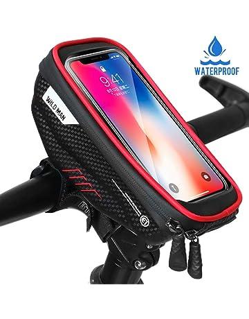 Faneam Sacoche Vélo Cadre Etanche Sacoche Guidon Vélo avec Écran Tactile,  Support Vélo Téléphone Pochette ae9580a4136