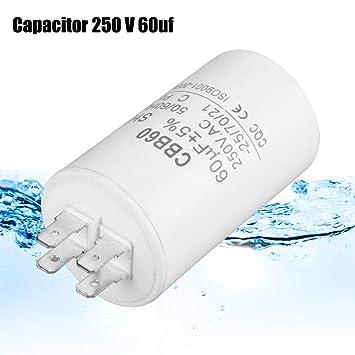 ASHATA CBB60 Condensador de Marcha, Condensador de Marcha en Forma ...