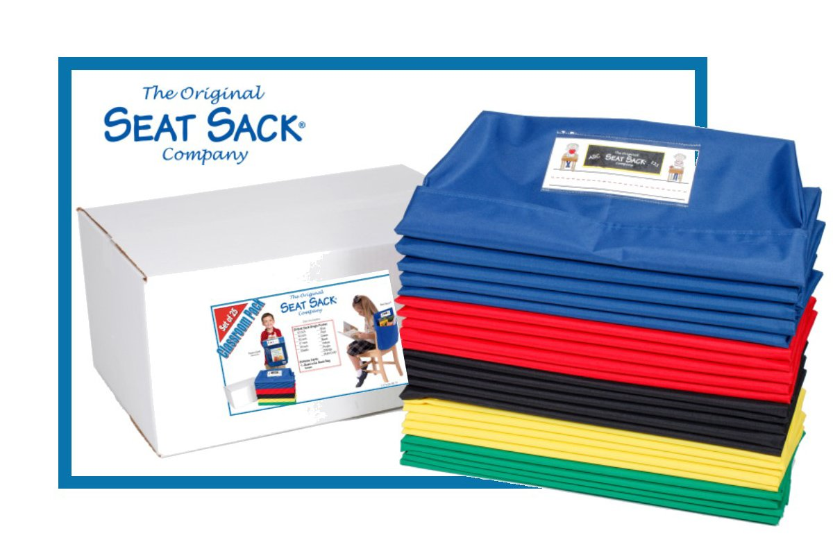 SEAT SACK 17 in. Classroom Pack-Multi Color