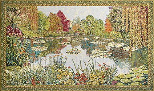 Parc de Monet Belgian Tapestry by Charlotte Home Furnishings Inc.