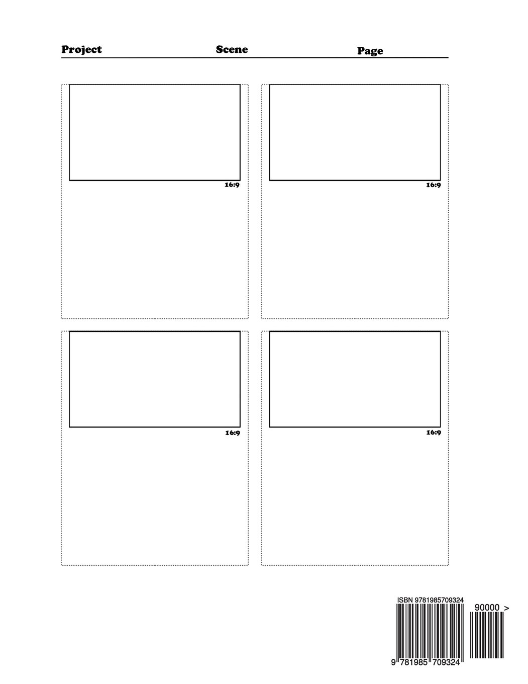 Amazon 169 Storyboard Notebook 4 Panel 85x11 Template 120 Pages Ideal For Filmmakers Advertisers Animatorsvisual