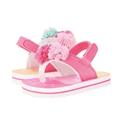 885bccc7981c Image Unavailable. Image not available for. Color  Baby Girls  EVA Tulle POM  POMS FLIP Flop ...