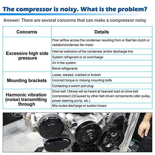 AUTEX AC Compressor and A/C Clutch CO 10778JC 926008J01A Replacement for  Nissan Altima 2002 2003 2004 2005 2006 2 5L