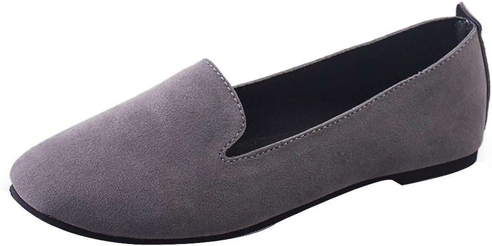 Femme Mocassins,Chaussures Plates Couleur Unie Bout Rond