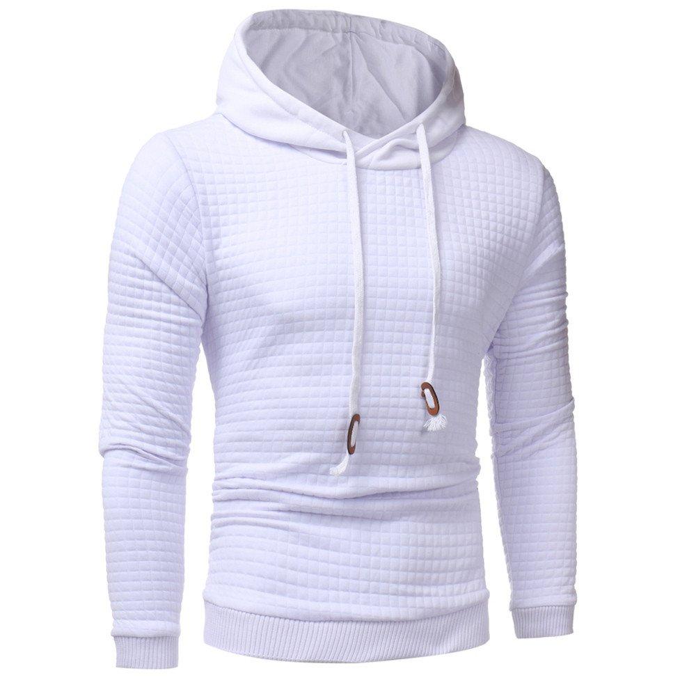 Hoodie For Men,Clearance Sale-Farjing Mens' Long Sleeve Hoodie Jacket Coat Hooded Sweatshirt Tops Outwear(2XL,White)