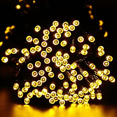 ApexPower 2 Packs Christmas Solar String Lights 200 LED 72ft 8 Modes Solar Powered Starry Lighting for Outdoor Patio Lawn Garden Weeding Party Xmas Tree Decoration