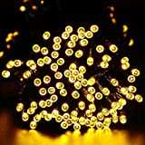 easyDecor Solar String Lights 200 LED Waterproof 72ft 8 Modes Solar Powered Christmas Fairy String Lights for Outdoor Xmas Patio Path Party Lawn Garden Wedding Party Holiday Decoration (Warm White)