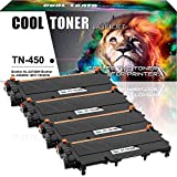 brother printer mfc 7860 - Cool Toner 4 Packs TN450 Toner Cartridge Compatible for Brother TN-450 TN420 TN-420 HL 2270dw HL2270dw HL 2280DW HL-2240 HL-2280dw MFC 7360n 7860dw 7460dn MFC-7860dw MFC-7460dn DCP 7065dn Printer Ink