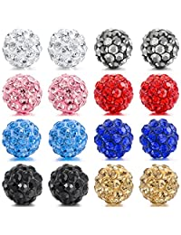 MOWOM Multicolor 6mm 8mm Stainless Steel Stud Earrings Ball Set