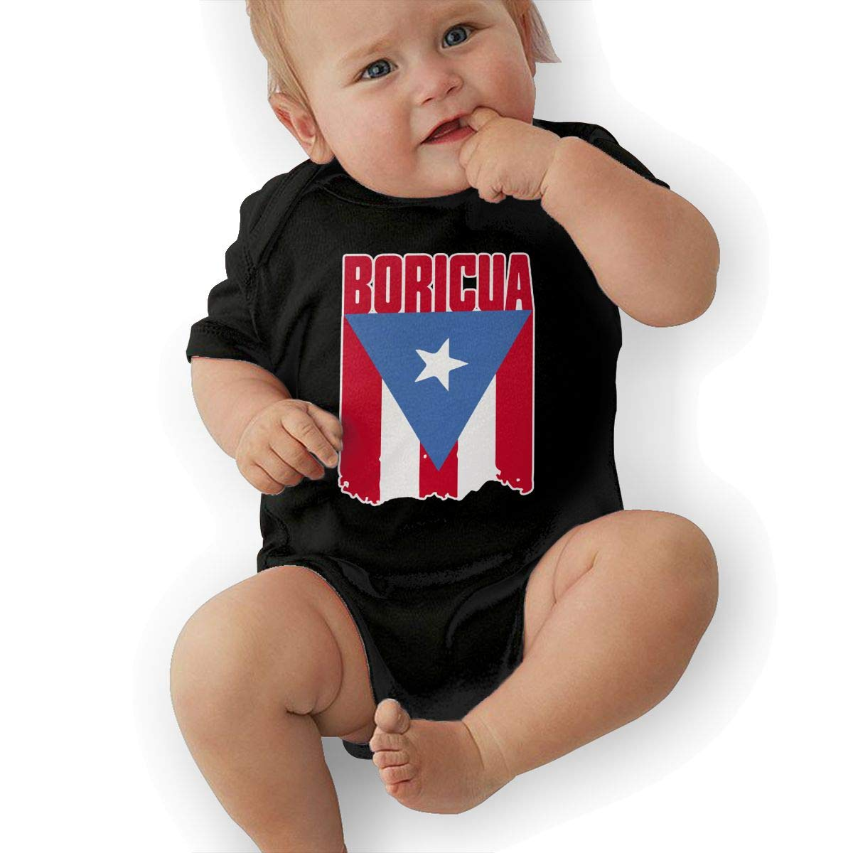 Puerto Rico Flag Boricua1 Infant Baby Girl Boy Bodysuit Jumpsuit Short Sleeved Bodysuit Tops Clothes