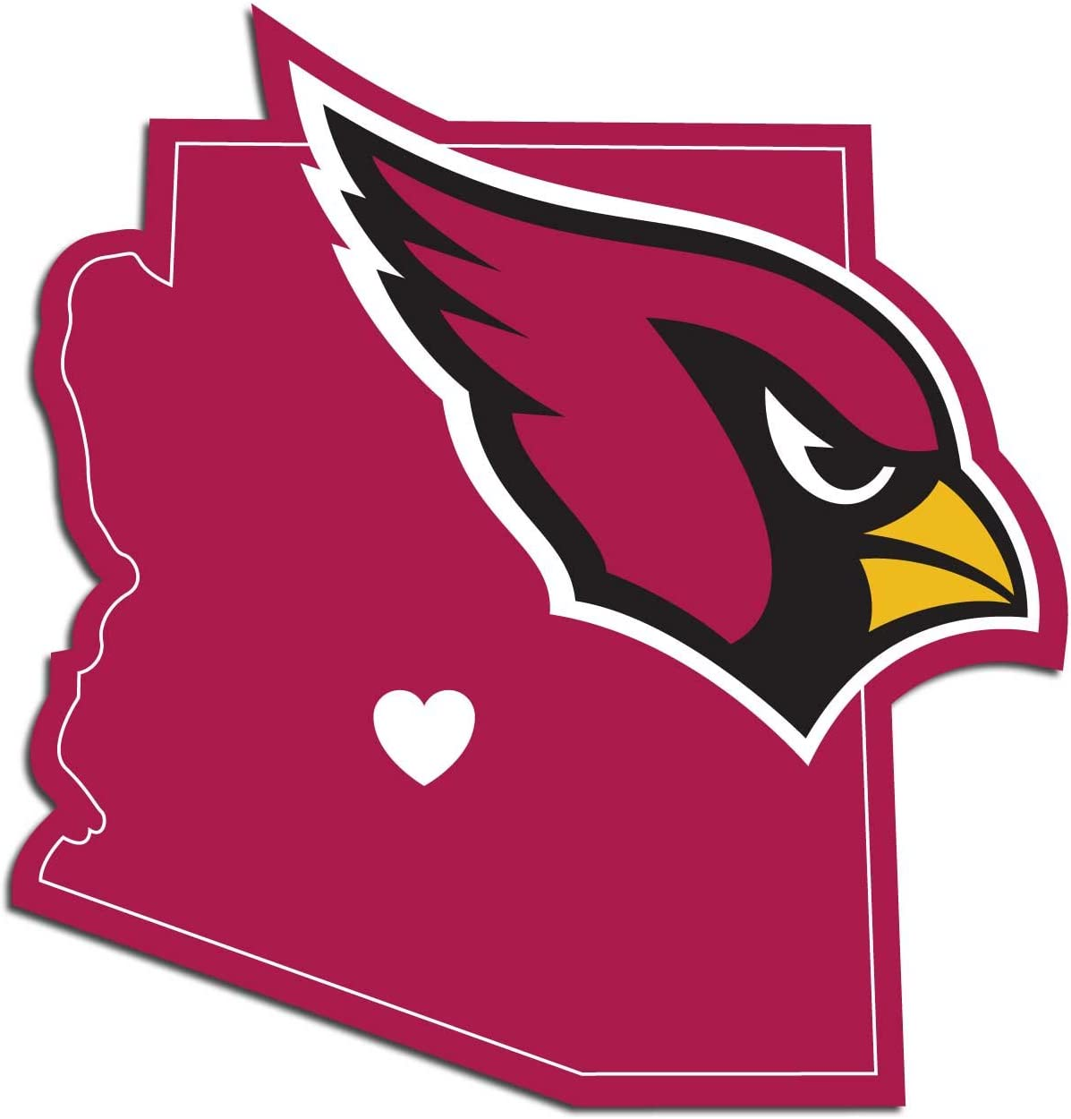 NFL Siskiyou Sports Fan Shop Arizona Cardinals Home State Decal One Size Team Color