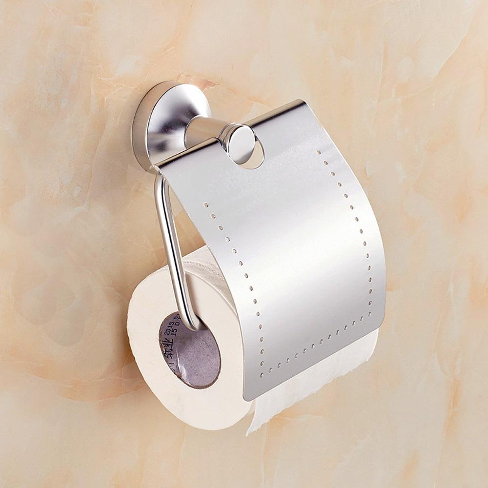50%OFF SSBY Aluminum space toilet paper holder bathroom Towel rack high brightness paper holder toilet paper roll holder