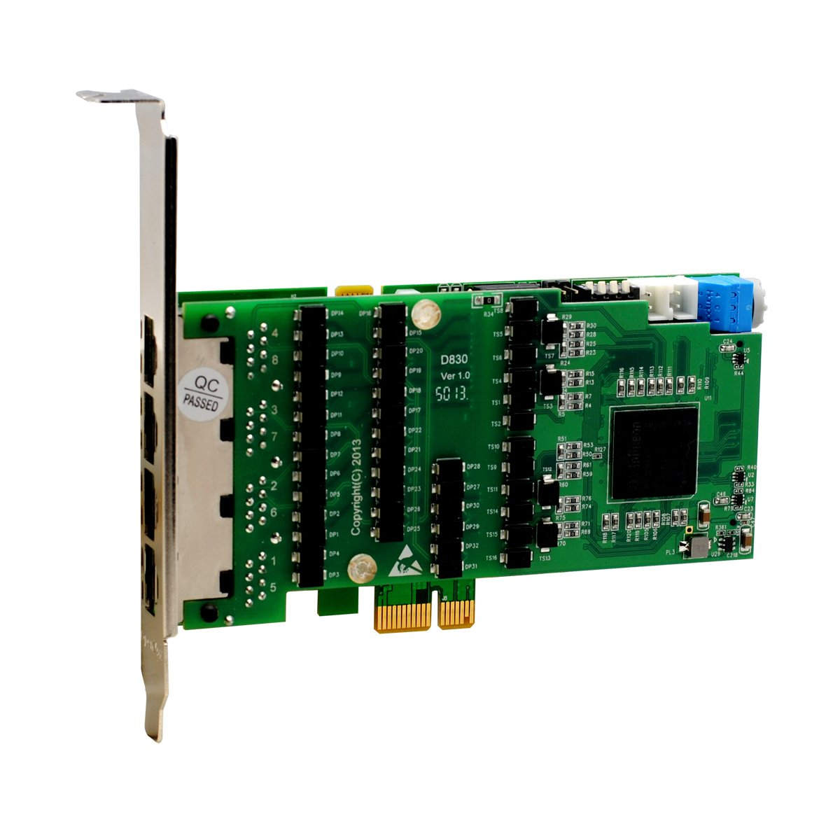 OpenVox 8 Port Asterisk E1 T1 J1 PCI Express Card with