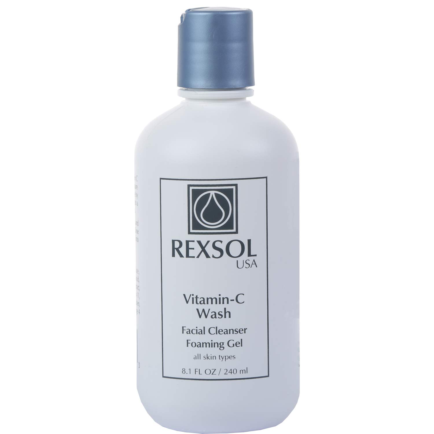 REXSOL Vitamin C Wash Facial Cleanser Foaming Gel | Vitamin C Face Wash - Natural Face Wash & Cleanser For Face | Skin Routine Anti Aging Daily Face Wash For Women With Sensitive Skin | Vit A,E-8.1 OZ