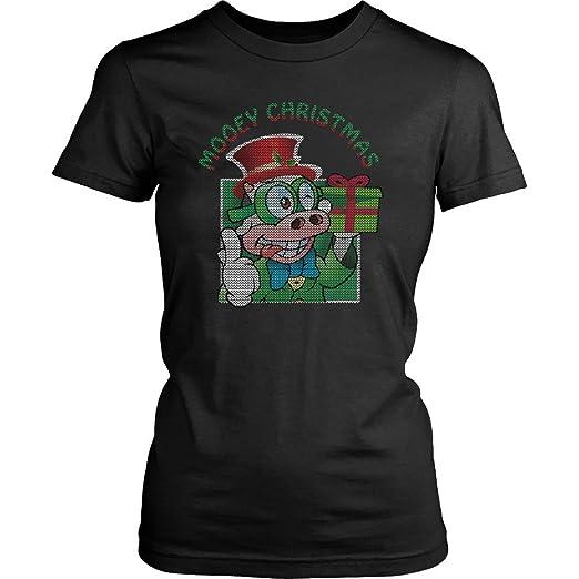 Amazoncom Mooey Christmas Cow Ugly Christmas Sweater Women T Shirt