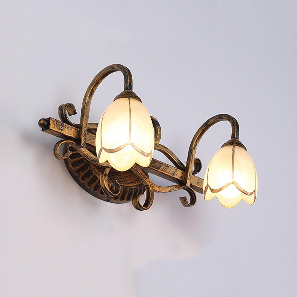 badezimmerlampe Spiegel-vordere Lichter, Retro- Badezimmer-Lichter, die Wand-Lampen-Spiegel-Kabinett-Lichter kreatives geführtes Eitelkeits-Licht, Messing, E27 kleiden Schminklicht