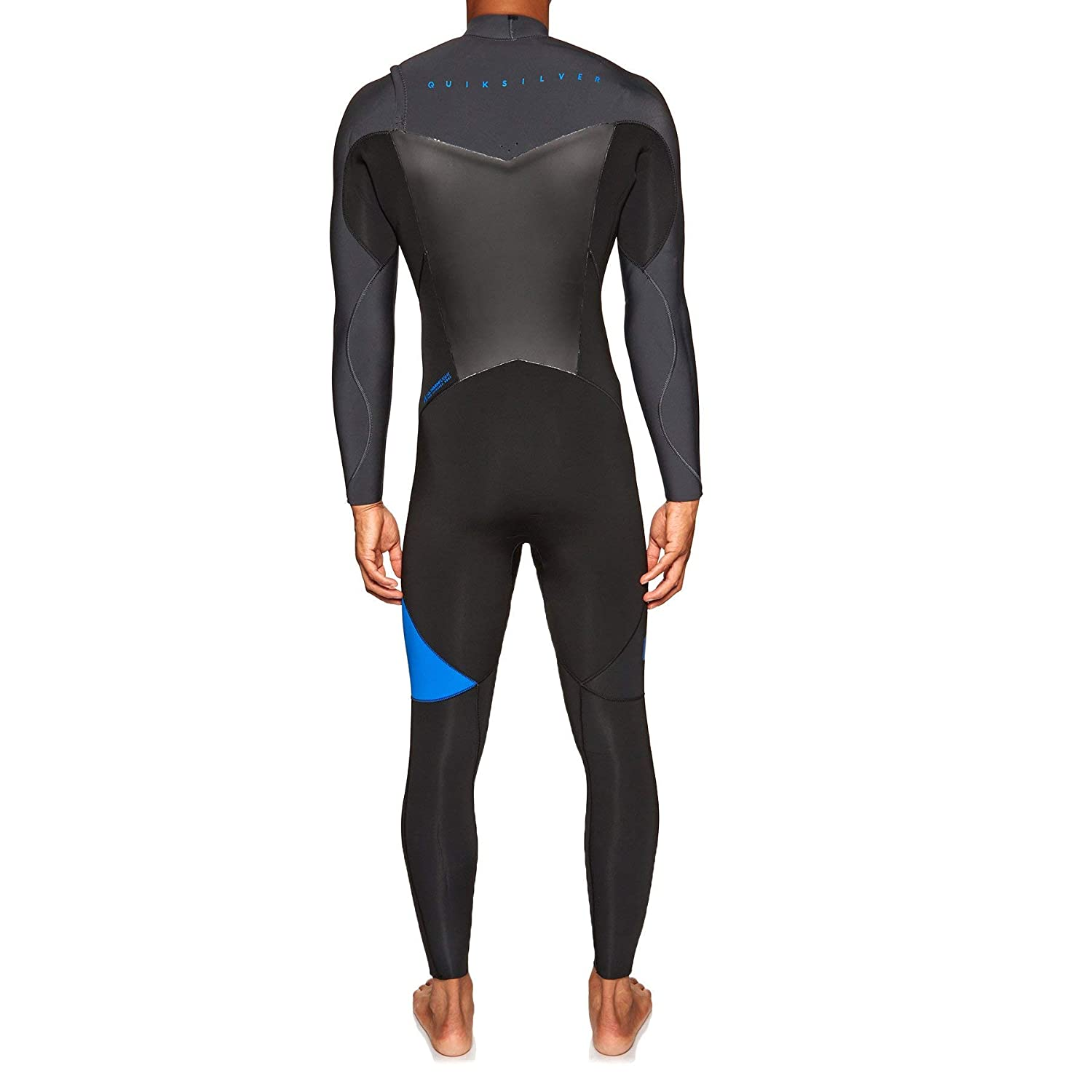 Quiksilver Syncro 5/4/3mm Chest Zip Wetsuit Graphite Black Deep Cyanine - Thermal Warm Heat Layer Layers Easy Stretch