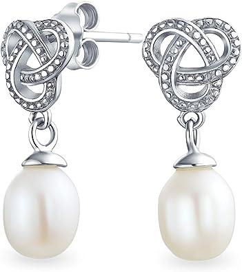 Bridal Imitation Pearl Dangle Drop Hook Earrings Wedding Prom