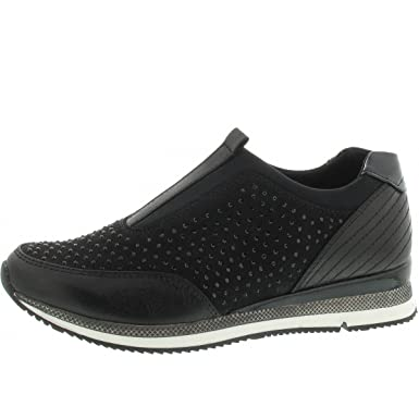 Amazon.com  Marco Tozzi 24710 Womens Sneakers Black  Clothing 3428768cdd