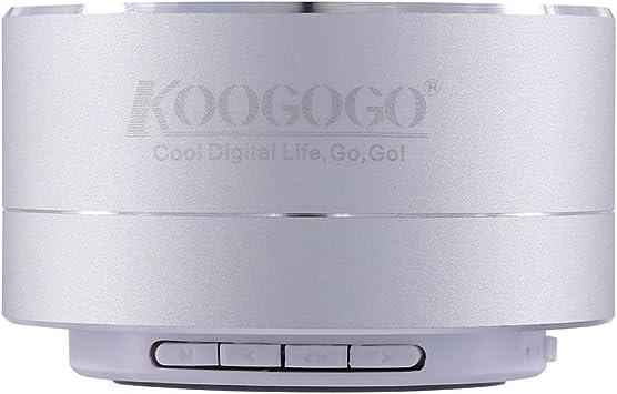 koogogo A10 Mini portátil inalámbrico Bluetooth Altavoces Metal Smart Manos Libres estéreo con FM para Apple/Samsung/Sony/Google/LG Dispositivos (Plata): Amazon.es: Electrónica